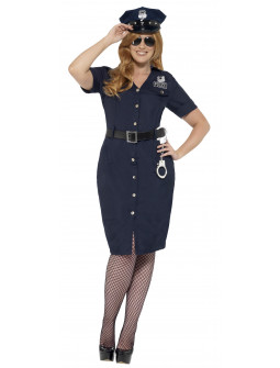 Disfraz de Policía NYC en Talla Grande para Mujer