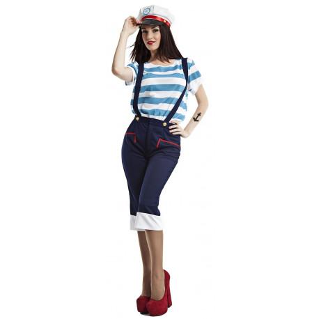 Disfraz de Marinera con Pantalón para Mujer