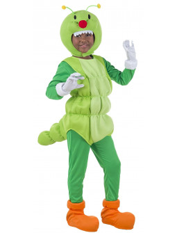 Disfraz de Gusano Verde Infantil