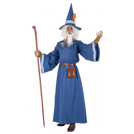 Disfraz de Mago Merlín Azul para Hombre