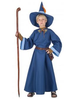 Disfraz de Mago Merlín Azul Infantil
