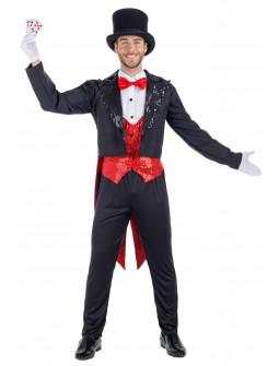 Disfraz de Mago Ilusionista con Chaqué para Hombre