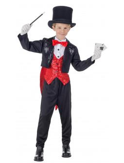 Disfraz de Mago Ilusionista con Chaqué para Niño