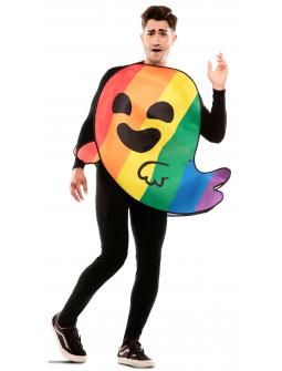 Disfraz de Gaysper Fantasma Arcoíris para Adulto