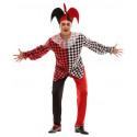 Disfraz de Arlequín Rojo y Negro para Hombre