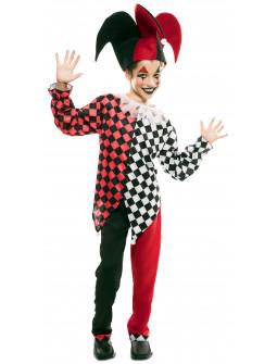 Disfraz de Arlequín Rojo y Negro para Niño