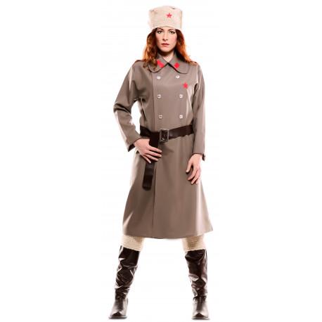 Disfraz de Militar Rusa Bolchevique para Mujer