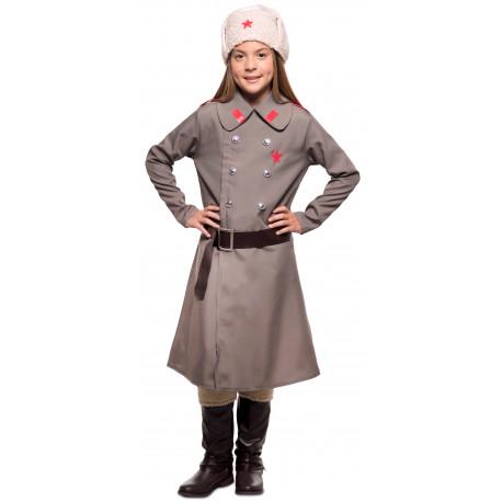 Disfraz de Militar Rusa Bolchevique para Niña