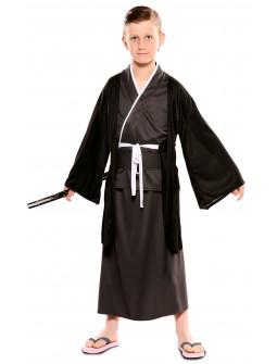 Disfraz de Samurái Japonés Negro para Niño