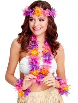 Kit de Hawaiana con Flores Tropicales Multicolor