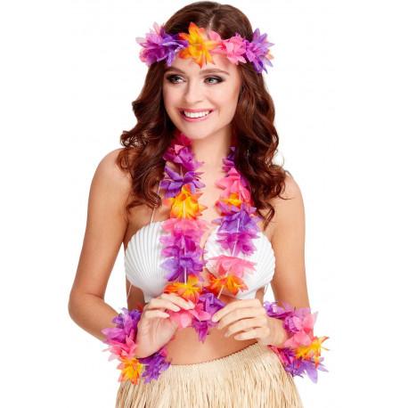 Kit de Hawaiana con Flores Tropicales Multicolor