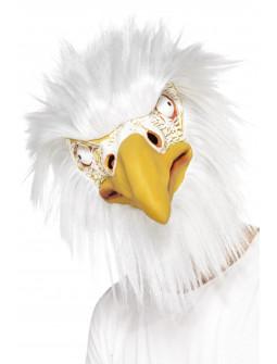 Máscara de Águila Blanca con Pelo