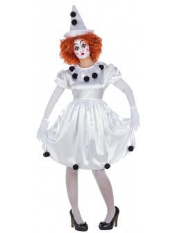 Disfraz de Payasa Pierrot para Mujer