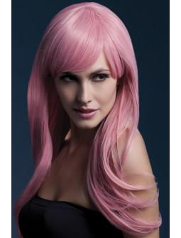 Peluca Rosa Pastel de Pelo Largo Ondulado Premium