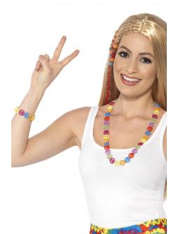 Collar y Pulsera Hippies de Símbolos de la Paz