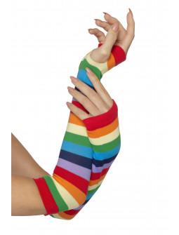 Guantes Largos con Rayas Multicolor sin Dedos
