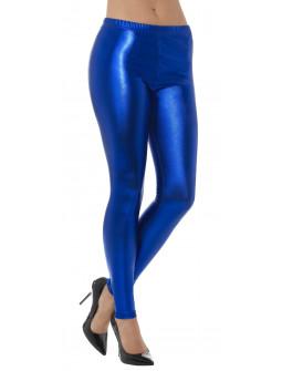 Leggings Azules Metalizados para Mujer