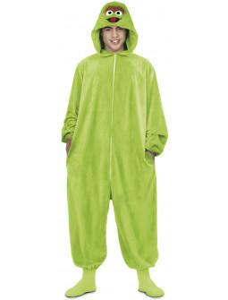 Disfraz de Oscar El Gruñón Pijama para Adulto