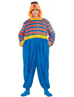 Disfraz de Epi Barrio Sésamo Pijama para Adulto