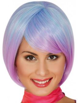 Peluca Azul y Morada Corta Lisa