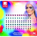 Gemas Faciales con Formas y Colores para Maquillaje