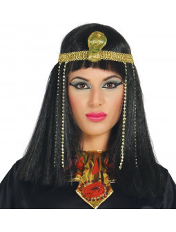 Peluca Egipcia Lisa con Diadema