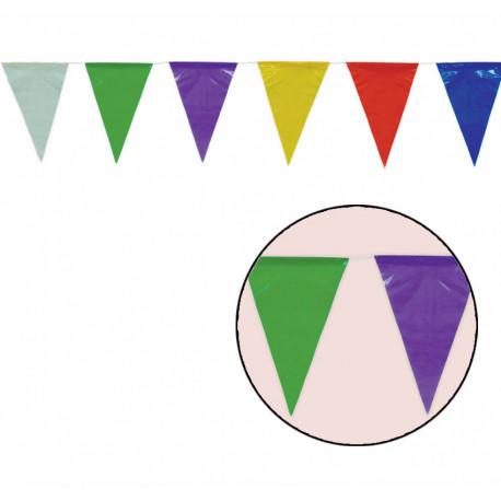 Guirnalda de Banderines de Colores de Plástico