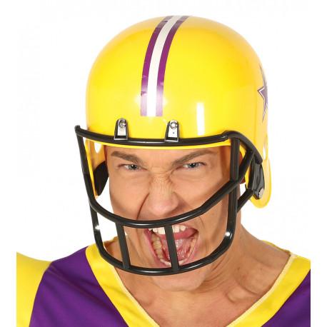 Casco de Rugby Amarillo para Adulto