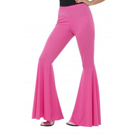 Pantalón de Campana Rosa Estilo Hippie para Mujer