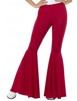 Pantalón de Campana Rojo Estilo Hippie para Mujer
