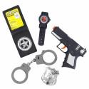 Kit de Policía Con Pistola, Esposas, Reloj y Placa
