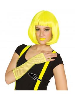 Guantes Amarillos de Rejilla sin Dedos