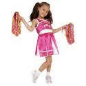 Disfraces de Animadora Rosa con Pompones para Niña