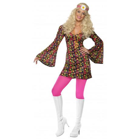 Disfraz de Hippie con Mangas de Campana para Mujer