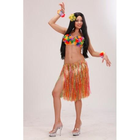 Falda multicolor Hawaiana