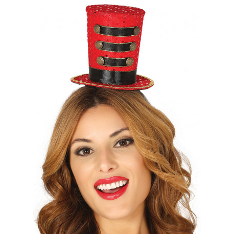 Mini Sombrero de Domadora con Diadema