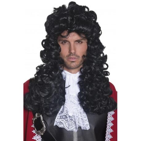 Peluca de Capitán Pirata Morena Larga Rizada