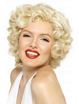 Peluca de Marilyn Monroe Rubia Corta Rizada