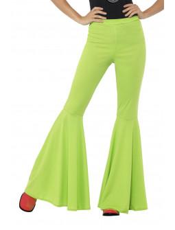 Pantalón de Campana Hippie Verde para Mujer