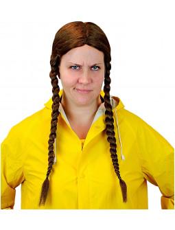 Peluca de Greta Thunberg con Trenzas