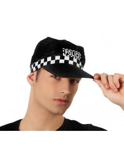 Gorra de Policia con cuadritos