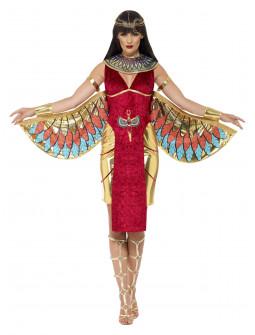 Disfraz de Diosa Egipcia Isis con Alas para Mujer