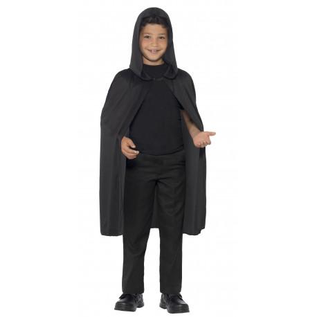 Capa Negra con Capucha Infantil