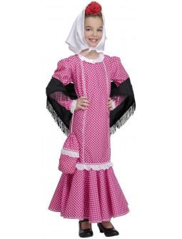 Disfraz de Chulapa Castiza Rosa para Niña