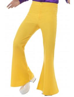 Pantalones de Campana Amarillos para Hombre