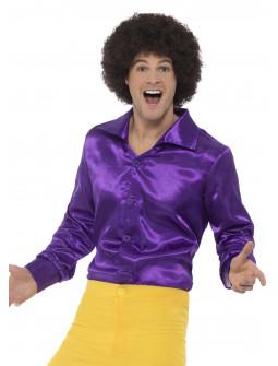 Camisa Disco Morada para Hombre