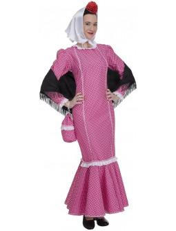 Disfraz de Chulapa Castiza Rosa para Adulto