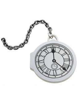 Reloj de Bolsillo Blanco del Conejo de Alicia