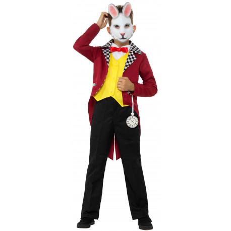 Disfraz de Conejo Blanco de Alicia con Careta para Niño