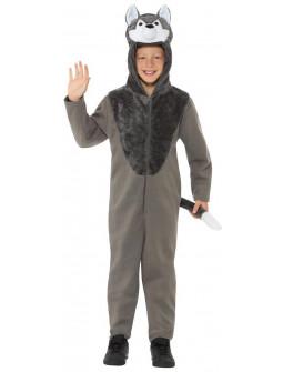 Disfraz de Lobo Gris para Niño